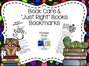 FREE Book Care/ Just Right Books bookmarks