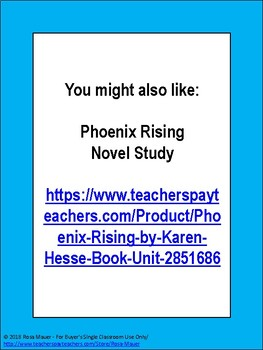 FREE Book Extension Ideas for Phoenix Rising