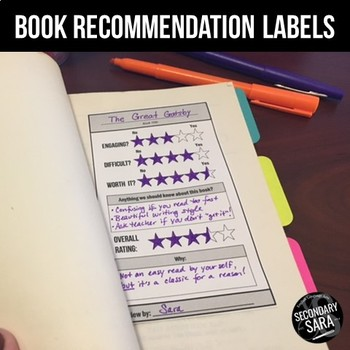 FREE Book Review Labels/Inserts: Classroom Library and More!