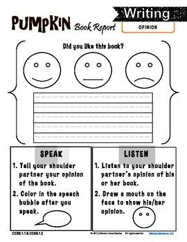 FREE Book Report First Grade