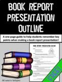 Book Report Presentation Outline {FREE}