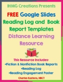FREE Google Slides Reading Log & Book Report Templates-Dis