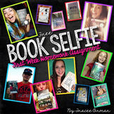 FREE Book Selfie First Day Back to School Homework Assignment