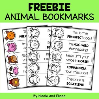 Student Gift - Animal Bookmarks