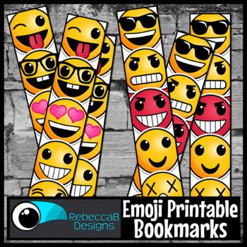 Emoji Printable Bookmarks