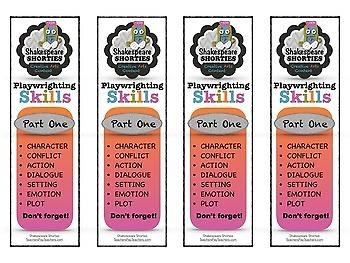 FREE Bookmarks for Playwrighting Skills via Creative Drama