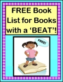 """FREE!  """"Books with a Beat!"""" Book List"""