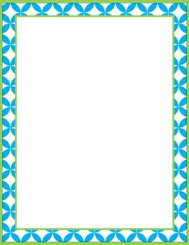 FREE Border Frame for Personal and Commercial Use- Turquoise and Lime Freebie
