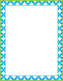FREE Border Frame for Personal and Commercial Use- Turquoi