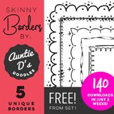 FREE Unique Borders by Auntie D's Doodles