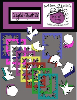 FREE Borders with matching color and BW SHAPES. .