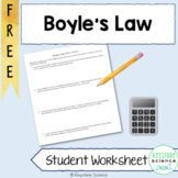FREE Boyle's Law Worksheet with Answer Key