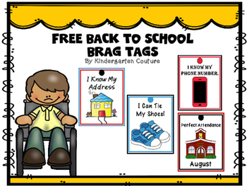 FREE Brag Tags -Back To School #2