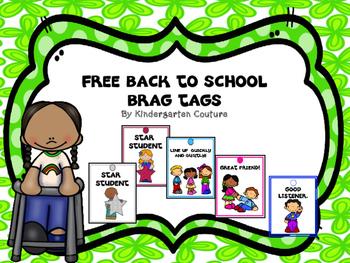 FREE Brag Tags -Back To School