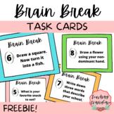 FREE Brain Break Task Cards for Elementary