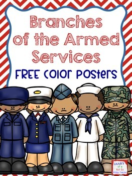 FREE Branches of the Armed Services Posters