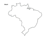 FREE - Brazil Map Outline