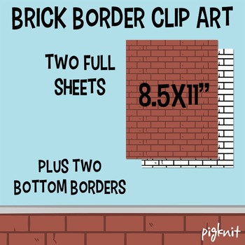 FREE Brick Wall Border Clipart | Brick Clipart Wallpaper Stationary