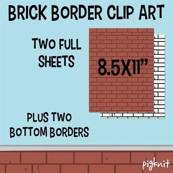 FREE Brick Wall Border Clipart | Brick Clipart Wallpaper S