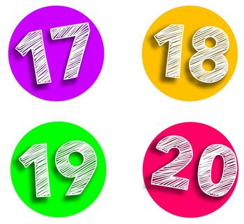 FREE Bright & Colorful Number Circles Classroom Decor