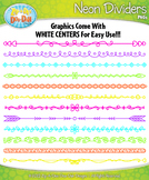 FREE Bright Neon Doodle Page Divider Clipart {Zip-A-Dee-Do
