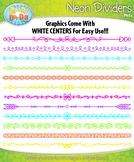 Bright Neon Doodle Page Divider Clipart {Zip-A-Dee-Doo-Dah Designs}