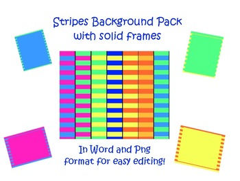 FREE, Bright Stripes Background Pack - Commercial or Personal Use