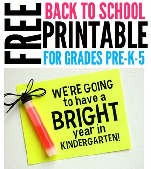 FREE Bright Year Student Gift Tag Printable for Pre-K-5 classrooms