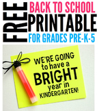 FREE Bright Year Student Gift Tag Printable for Pre-K-5 cl