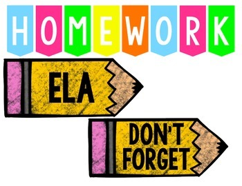 FREE Bright and Cheerful Homework Signs