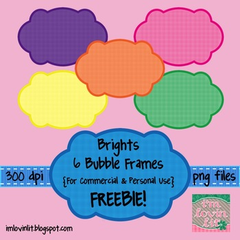 FREE Brights Bubble Frames - Commercial & Personal Use