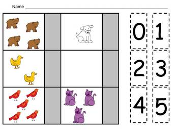 FREE Brown Bear Counting Sets Independent Practice for Kindergarten
