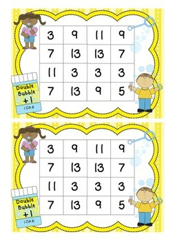 FREE Bubble Double +1  math addition game 1.OA.6