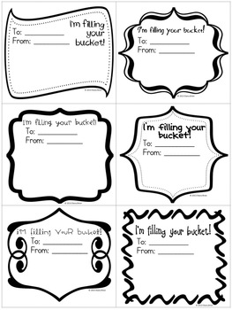 Excellent Bucket Filling Coloring Pages Worksheet Filler ...