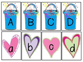 FREE Buckets of Love Alphabet Letter Match-up