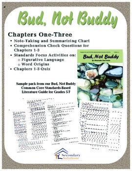 Bud, Not Buddy Chapters 1-3 {FREE}