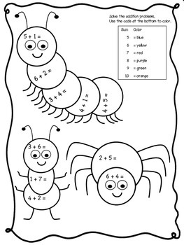 FREE! Bug Math Worksheets