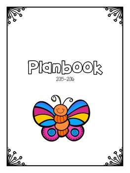 FREE Bug Themed Planbook Cover