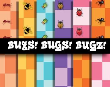 FREE! Bugs! Bugs! Bugz! Backgrounds and Digital Papers and Patterns