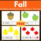 FREE Build a Sentence - Fall