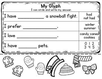 FREE: Build-a-glyph Snowman
