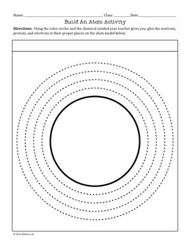 FREE Build an Atom Activity with a Hole Punch and Glue