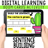 FREE Building Sentences: Digital Task Cards with BOOM CARD