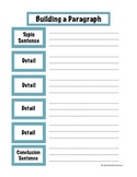 FREE Building a Paragraph Graphic Organizer