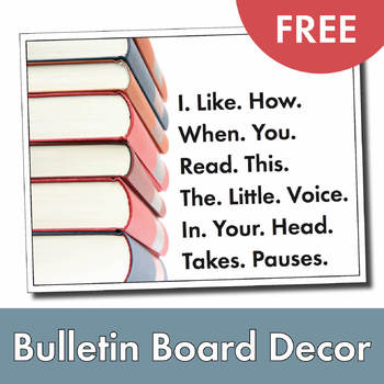 FREE Bulletin Board Decoration, Easy Print and Post Classroom Poster, Gr. 3-12