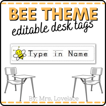 graphic relating to Free Printable Name Tags identified as **Totally free** Bumblebee Track record Tags for Table - Editable/Printable
