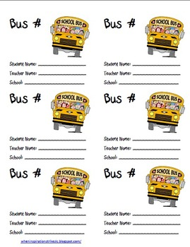 FREE Bus Labels