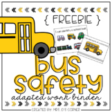 FREE Bus Safety Adapted Work Binder