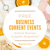 FREE Business Current Events Article Review Graphic Organizer