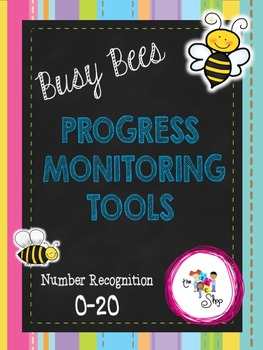 FREE! Busy Bees Progress Monitoring: Number Recognition